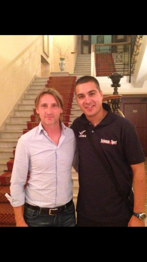 Foto di Nicola Lallopizzi con Davide Nicola