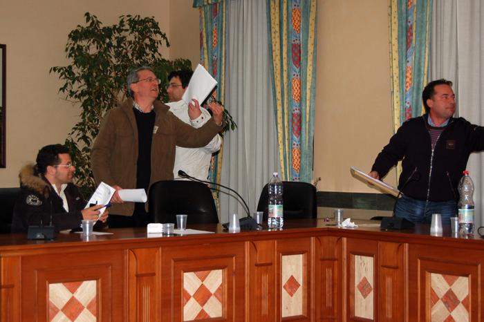 Un momento infuocato in Consiglio comunale nel 2009