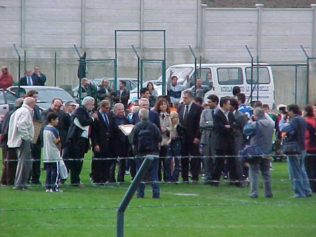 Un momento dell'inaugurazione dello stadio