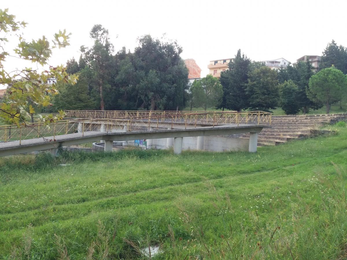 Il teatro all'aperto nel parco di viale Europa